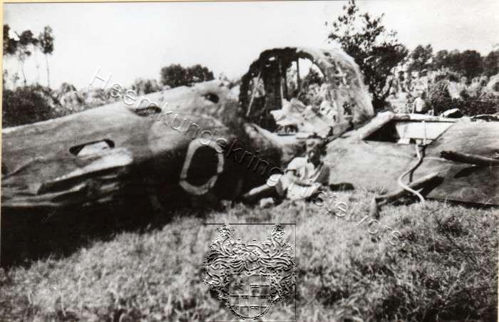 Neergestortte Lancaster Op Het Kantje Foto 01478 Uit De